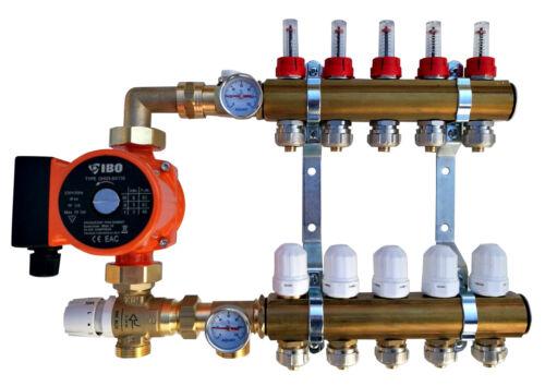 Festwertregelset für Fußbodenheizung aus Heizkreisverteiler 2-12 Pumpengruppe