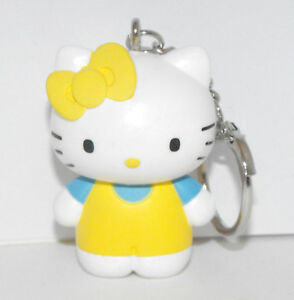 Hello-Kitty-Yellow-Outfit-2-inch-Plastic-Figurine-Key-Chain-Figure-Keychain