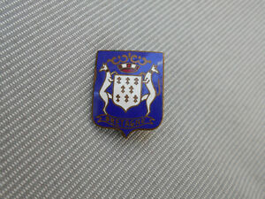 Altes emailliertes Abzeichen mit Wappen und Aufschrift BRETAGNE