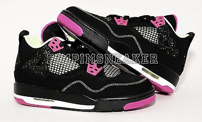AIR JORDAN 4 IV RETRO WHITE BLACK BRIGHT CRIMSON GRADE SCHOOL 4-7