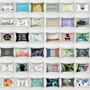 Am-Sofa-Car-Waist-Throw-Pillowcases-Rectangle-Cushion-Cover-Home-Bed-Decor-Gran
