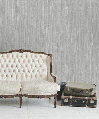 Grey Grasscloth Wallpaper Borneo Texture by Holden Statement 65242