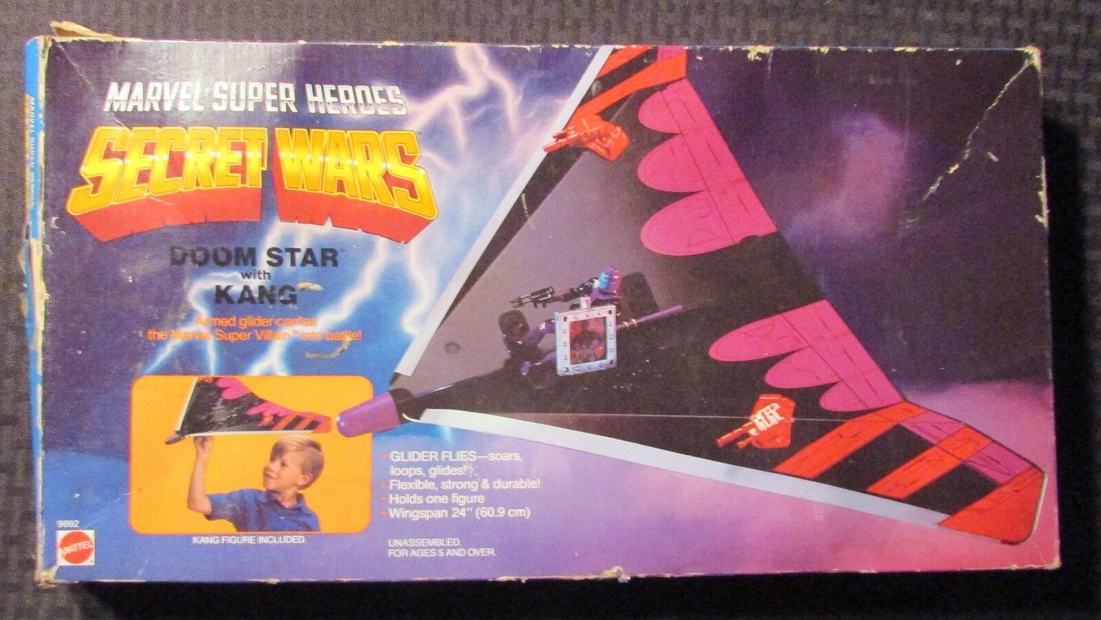 1984 SECRET WARS Doom Star with Kang NM in Box C-2.5 Mattel 9692