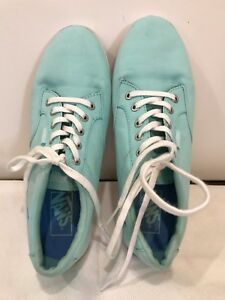 bc08ef108d0788 VANS Canvas Sneakers Womens Size 8 Mint Green Not Sure of Style