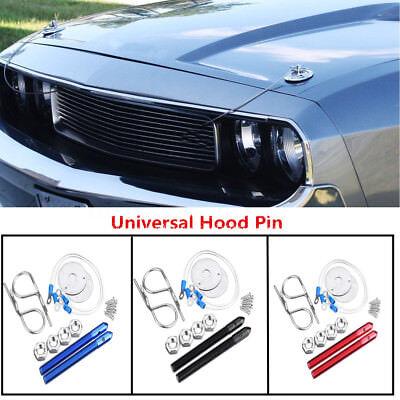Car Hair Pin Style Sport Hood Latch Pin Bonnet Engine Lock Set Kit Universal CNC