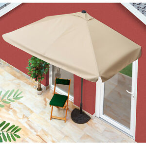 easy!maxx Sonnenschirm Balkon Sonnen Schirm rechteckig 40+ UV-Schutz ...