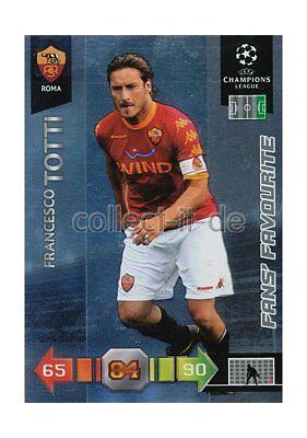 Panini Adrenalyn XL Ligue des Champions 10//11 265-Francesco Totti Fans Favourite