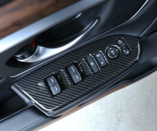 CARBON FIBER look Window Lift Switch Lock Trim For 2017 2018 Honda CRV CR-V