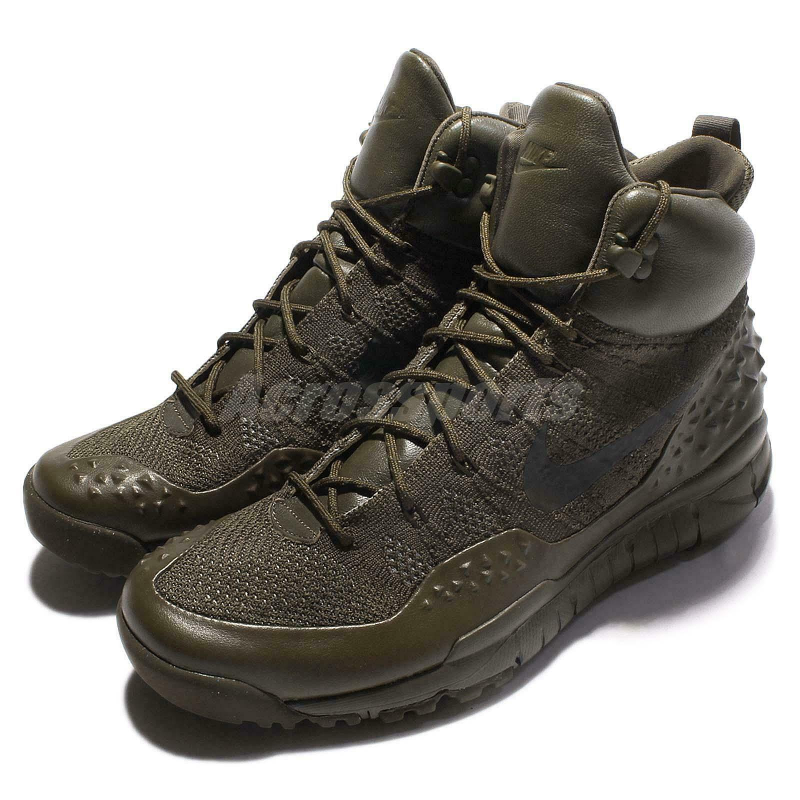 Nike Lupinek Flyknit Cargo Khaki ACG Men Sneakerboots Outdoors Outdoors Outdoors shoes 862505-300 d20505