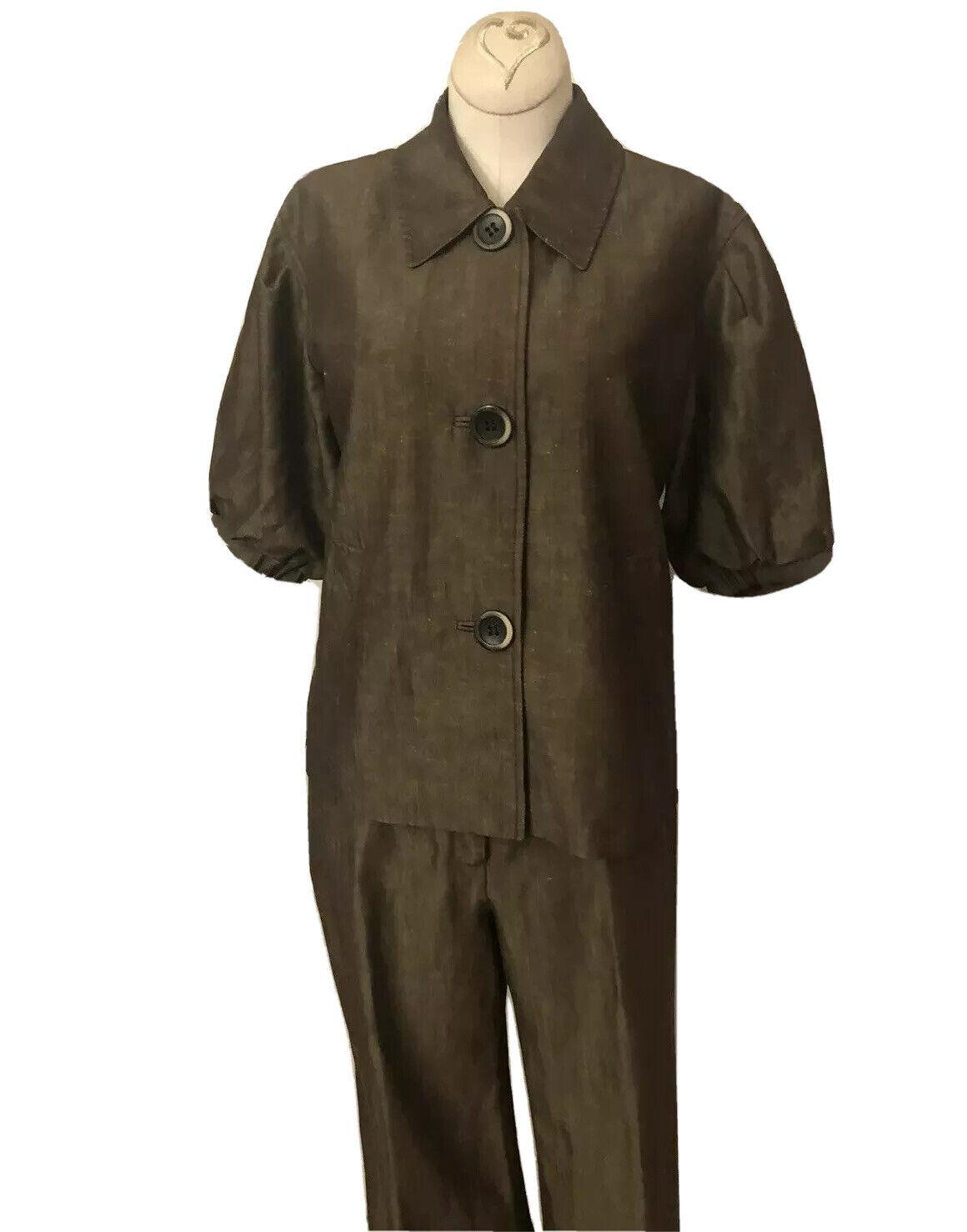 Lafayette 148 New Linen/Wool Blend Pant Suit Size… - image 3
