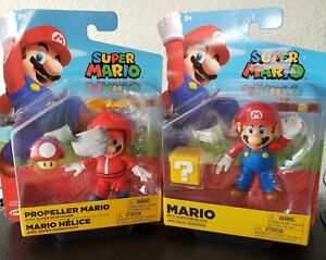 Super Mario with Question Block and Propeller Mario with Super Mushroom