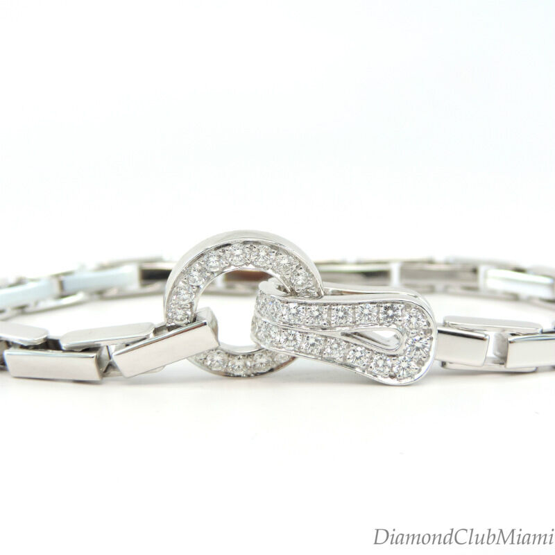 Authentic Cartier Agrafe Collection Diamond 18kt gold Bracelet 31.0 Grams