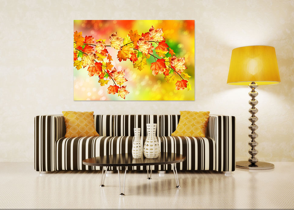3D Gelbes Ahornblatt 65 Fototapeten Wandbild BildTapete AJSTORE DE Lemon