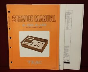 Details about Original TEAC Service Manual - Stereo Cassette Deck A-160/  A-140
