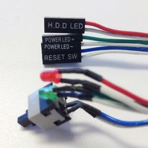 Details about PC Reset Button Momentary Push Switch Cable HDD Power LEDs  20 5