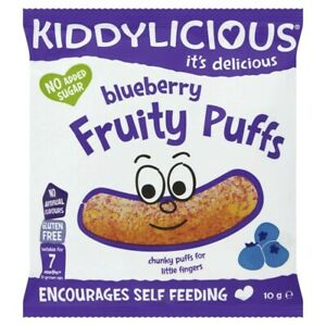 Kiddylicious Blueberry Fruity Puffs 7+ Months 10g