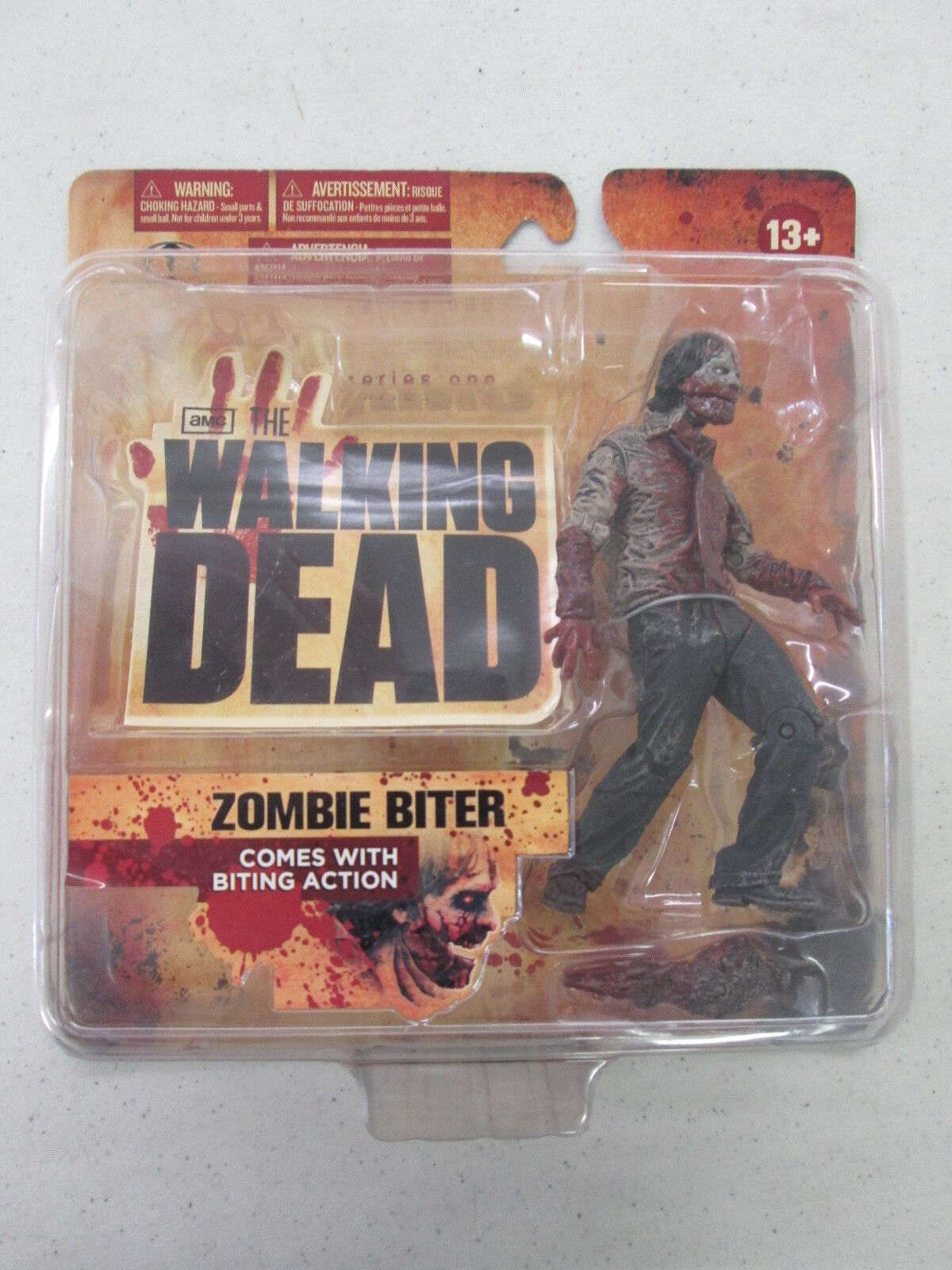 The Walking Dead Series One ZOMBIE BITER Action Figure McFarlane Toys New Sealed