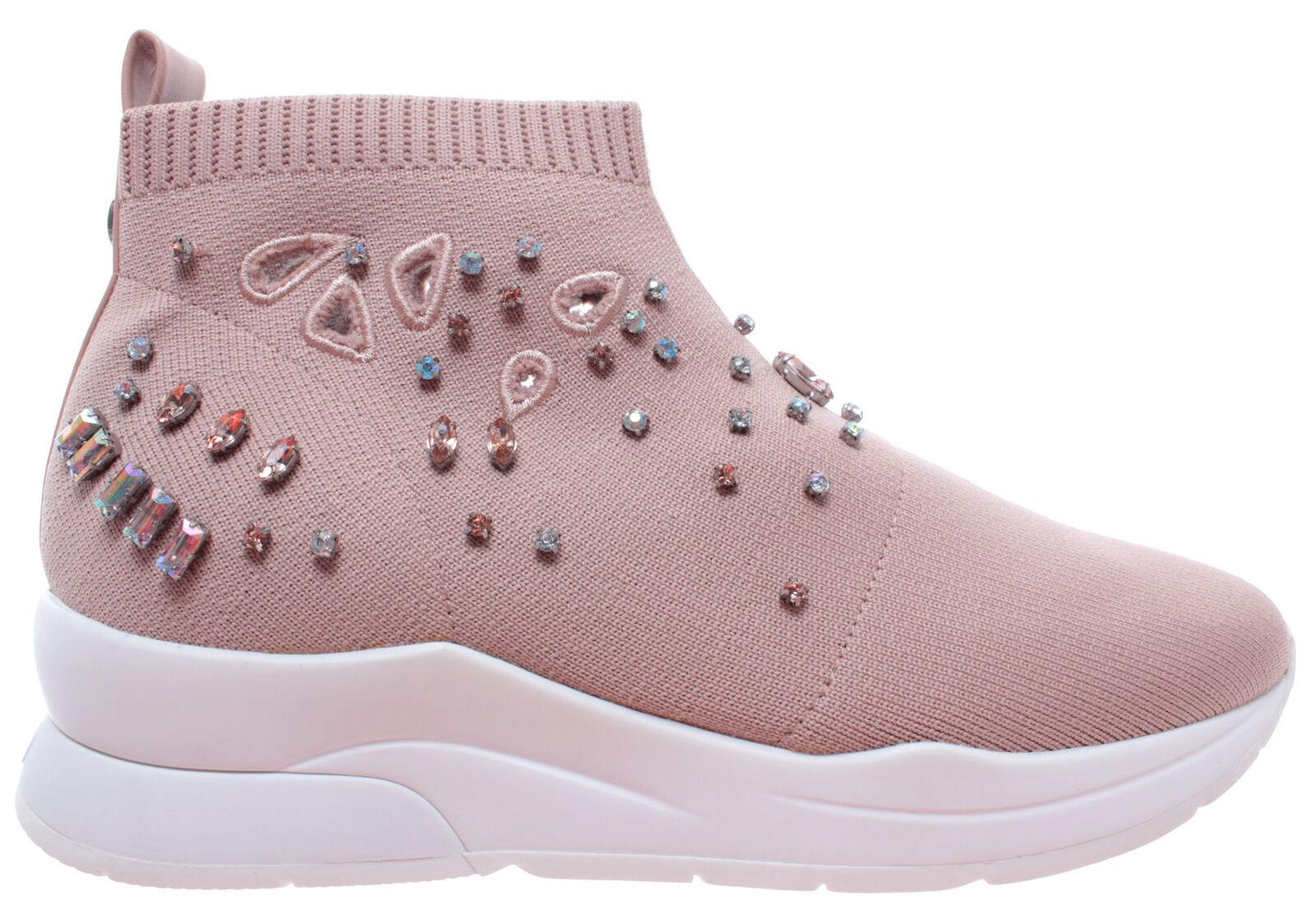 LIU LIU LIU JO Milano Karlie 15 Elastick Sock Fabric Peach rosado Zapatos Mujer zapatillas  excelentes precios