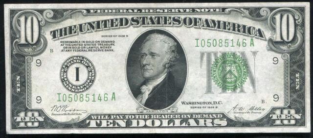 FR 2002-I 1928-B $10 TEN DOLLARS FRN FEDERAL RESERVE NOTE MINNEAPOLIS, MN XF