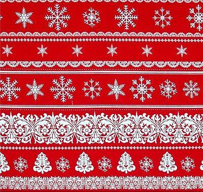 Weihnachtsstoff Streifen- Metallic Golddruck Multi Pinstripe Baumwollstoff
