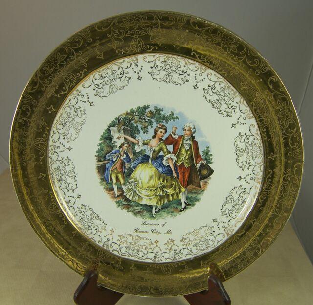 Decorative Horse Show Porcelain The Royal Souvenir Plate 22Kt Gold Trim Decorated in Canada Vintage Ceramic 9-14 Diameter- Collectible