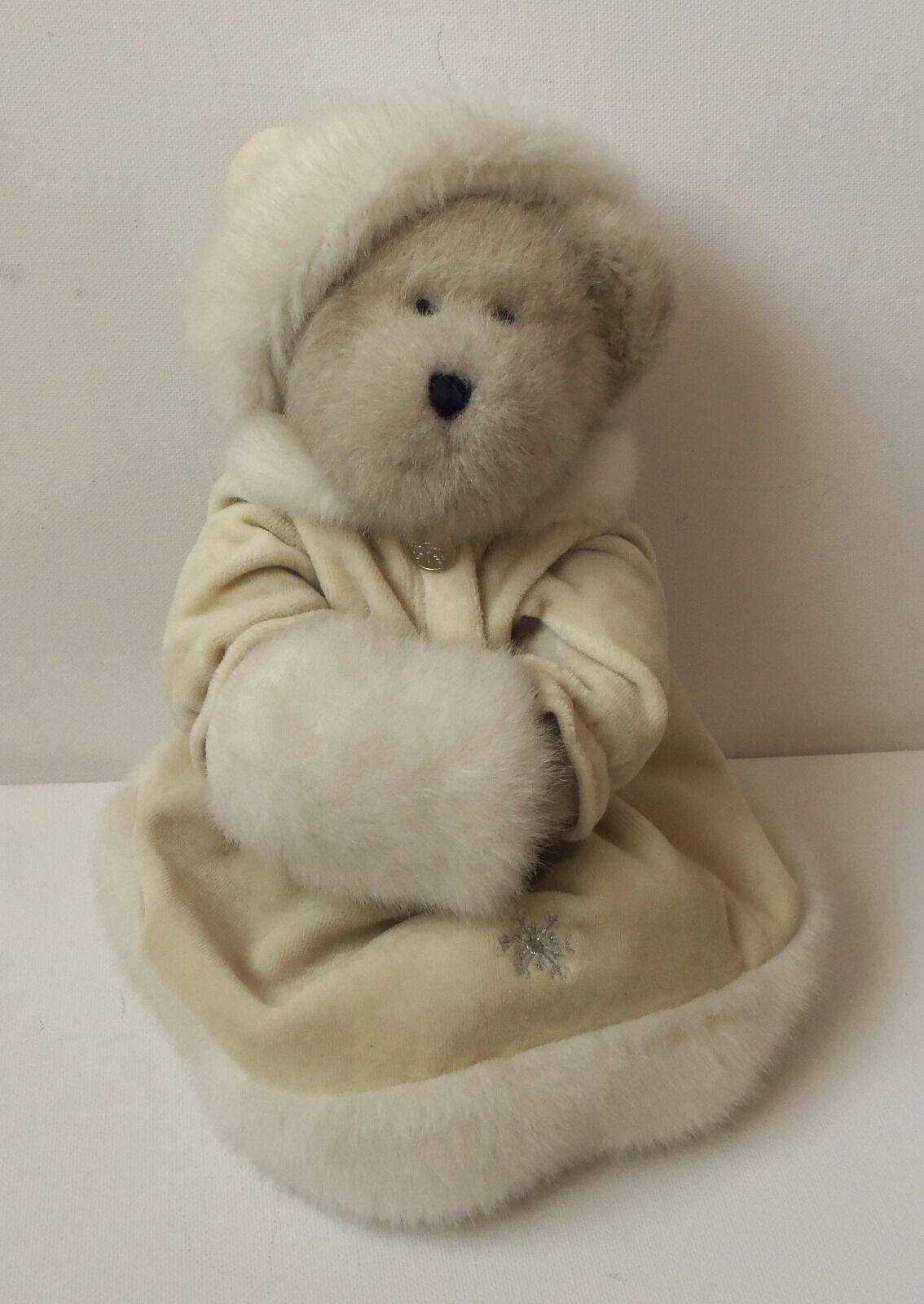 Rare Special BOYDS Teddy Bear Christmas Christmas Beige Santa Dress Plush Soft Toy 12