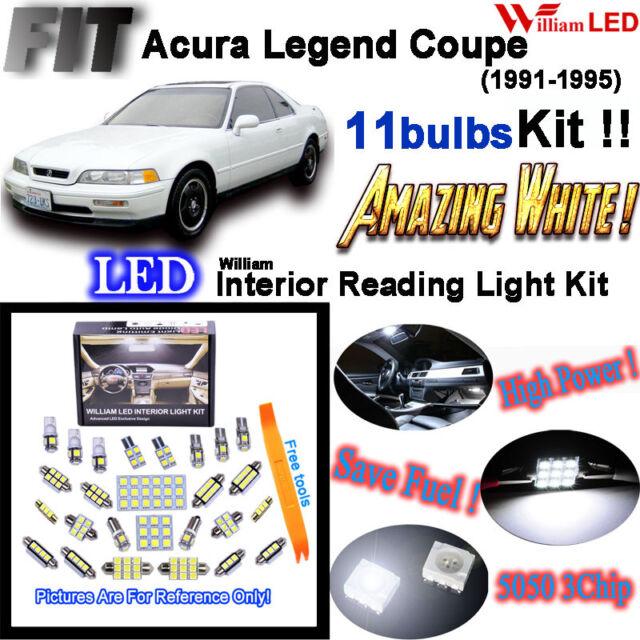 11 Bulbs Super White LED Interior Light Kit For Acura
