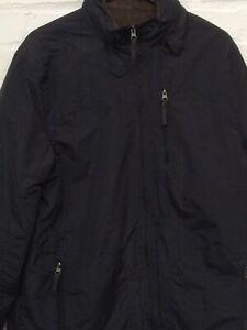 F-amp-F-Men-039-s-Black-Hooded-Zip-Autumn-Fleece-Lined-Jacket-Size-Large-Charity-P2-CF