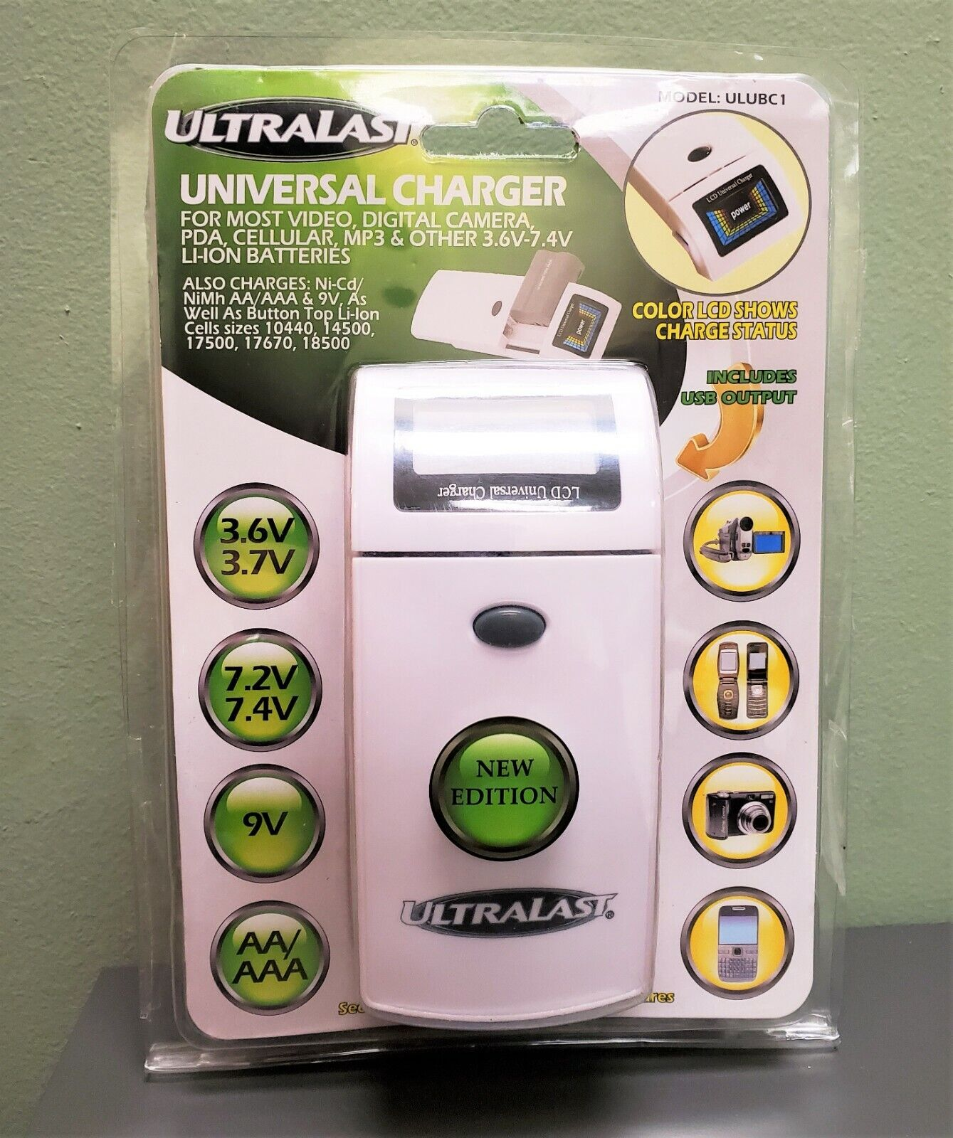 Universal Battery Charger by Ultralast for AA AAA NiMH Lithium Phone Camera