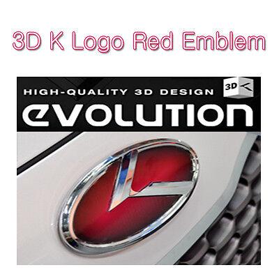 Kspeed Red 3D K Logo Front Emblem 1pc Fits: KIA 2009-2013 SOUL