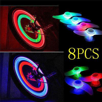8X Colors Set Bike Bicycle Cycling Car Wheel Spoke Tire Wire Tyre LED Light Lamp