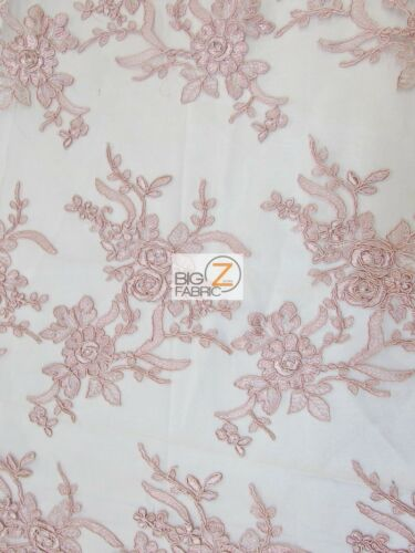 FLORAL EMBROIDERY MASTER LACE FABRIC BRIDAL WEDDING DRESS GOWN PROM HOMECOMING