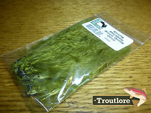 HARELINE-DUBBIN-OLIVE-MARABOU-BLOOD-QUILLS-STRUNG-NEW-FLY-TYING-FEATHERS