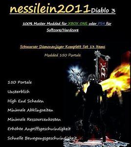 Diablo-3-Ps4-Xbox-One-SCHWARZER-Daemonenjaeger-150-Portale-100-Unsterblich