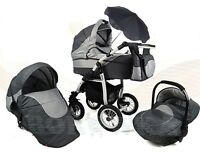 Sale Twist Adbor 3in1 -pram/pushchair/car Seat; Complies With Bs 5852