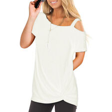 f9206dddbbc72b item 2 Women Short Sleeve Cold Shoulder Loose Casual Blouse Tunic Knot Long  Top T Shirt -Women Short Sleeve Cold Shoulder Loose Casual Blouse Tunic  Knot ...