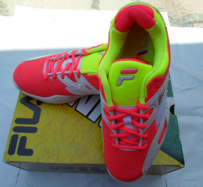 FILA SENTINEL WOMENS NEON YELLOW PINK TENNIS SHOES SIZE 7.5 8 8.5 MEDIUM Price reduction Comfortable and good-looking