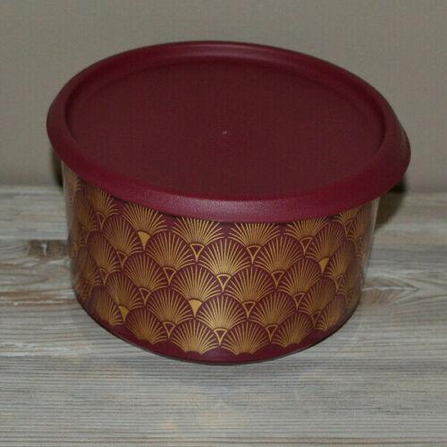 Tupperware Trio Elegante 1,4l bordaux rot mit Goldaufdruck Weihnachten NEU /& OVP