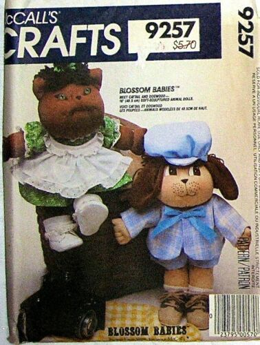 UNCUT VINTAGE CRAFT TOY DOLL BEAR CAT BIRD BUNNY SEWING PATTERN MCCALL/'S CHOOSE