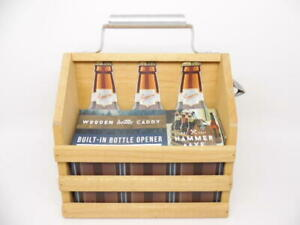Hammer + Axe Father's Day Wooden Beer Caddy Bottle Carrier with Built-in Opener