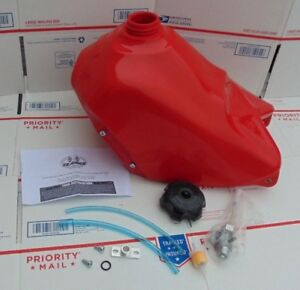 Details about RED plastic Clarke Gas Fuel Tank & cap & petcock & more HONDA  ATC 350X ALL YEARS