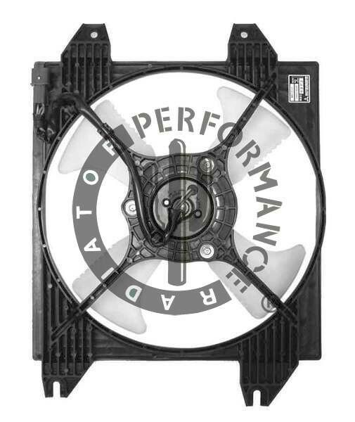 A  C Condenser Fan Assembly Performance Radiator Fits 1999