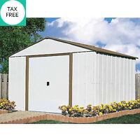 Garage Garden 10 X 10 Outdoor Organized Metal Storage Backyard Shed Tools Mower