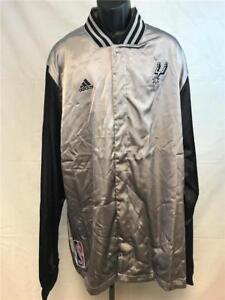 New San Antonio Spurs Mens 4XLarge 4XL+2 Silver On Court 2nd Half Jacket