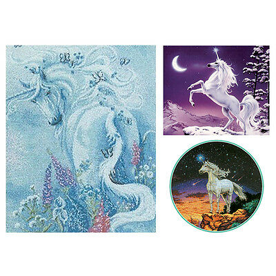 Complete Counted Cross Stitch Kit Fantasy Animal Mystical White Unicorn 11/14ct