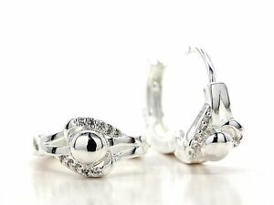 Authentic-925-sterling-silver-hallmarked-vintage-earrings-hoop-gems-gift-box