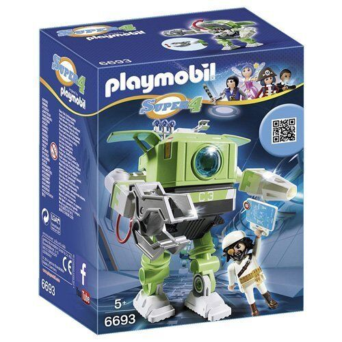 6693 38PC Playmobil Super 4 Cleano Robot