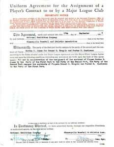 Horace-Stoneham-Jsa-Coa-Authentic-Hand-Signed-1957-Giants-Contract-Autograph