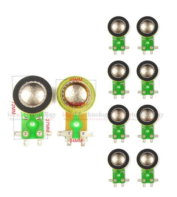 10pcs 25.5 Mm Titanium Membrane TREBLE Film Coil Speaker