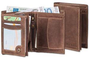 b97911345b1b0 Das Bild wird geladen Wild-Nature-Geldboerse-Premium-Qualitaet-Bueffelleder -Braun-Portemonnaie